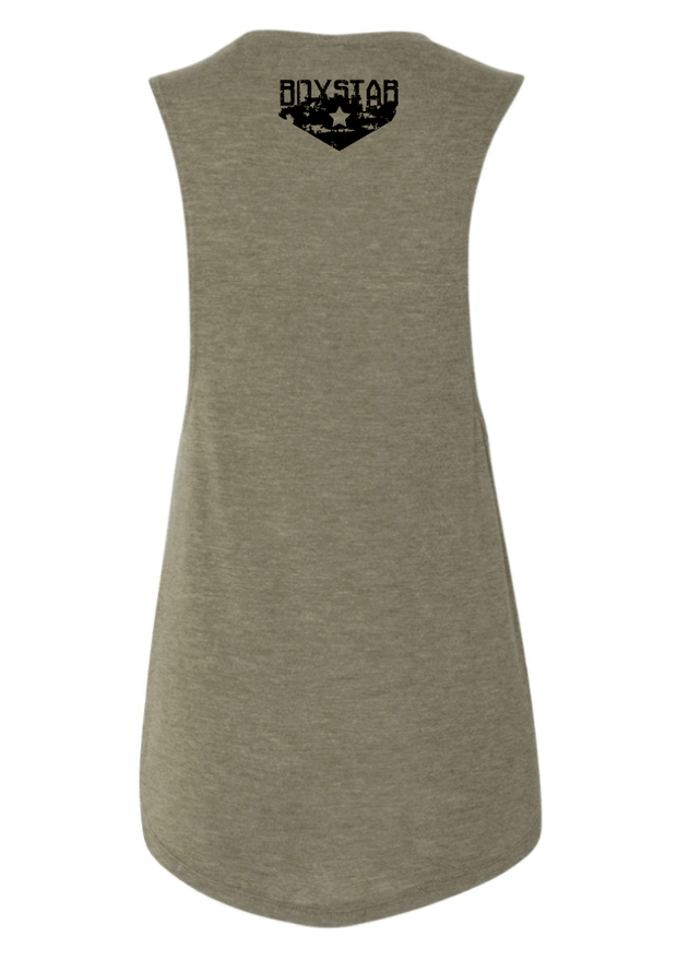 Ladies Spartan Muscle Tank-Boxstar Apparel
