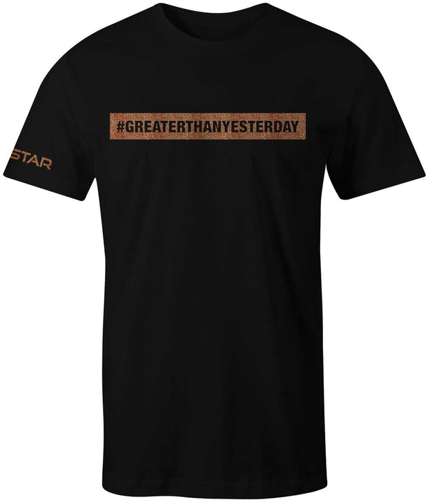 Men's #GREATERTHANYESTERDAY Tee-Boxstar Apparel