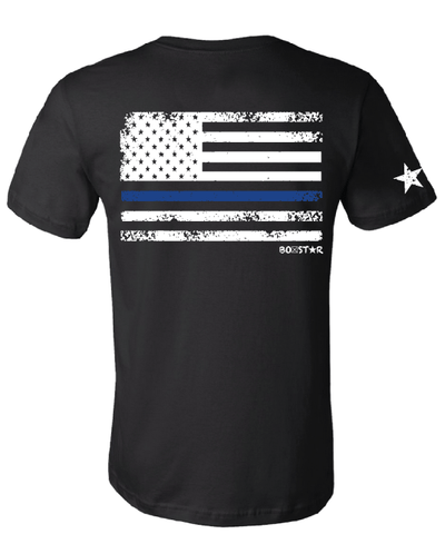 Men's Blue Line Tee-Boxstar Apparel