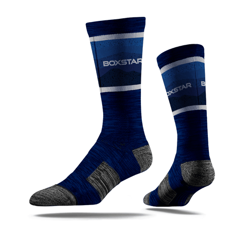 Midnight Sleek Crew Socks-Boxstar Apparel