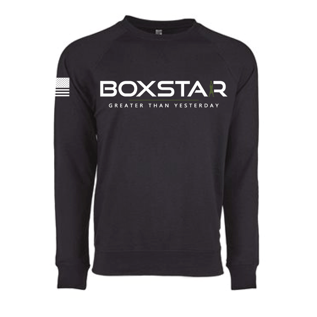 Motto Crewneck Sweatshirt-Boxstar Apparel