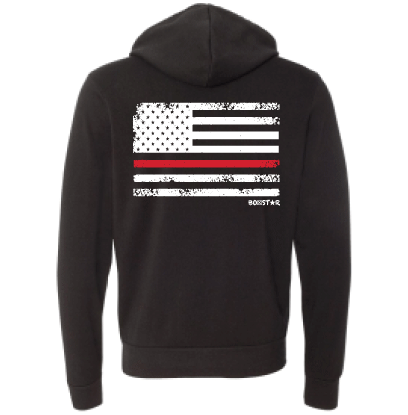 Red Line Pullover Sweatshirt-Boxstar Apparel