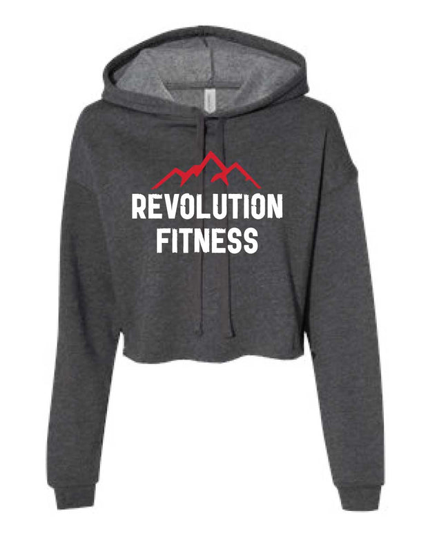 Revolution Fitness Ladies Cropped Hoodie-Boxstar Apparel