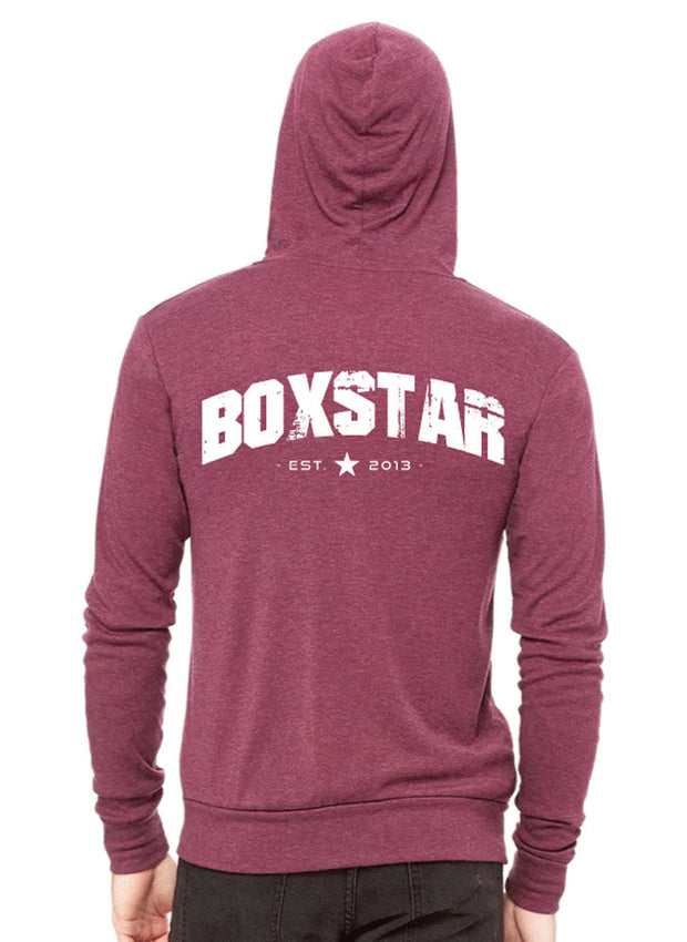 Summit Lightweight Full Zip Tri-Blend Hoodie-Boxstar Apparel