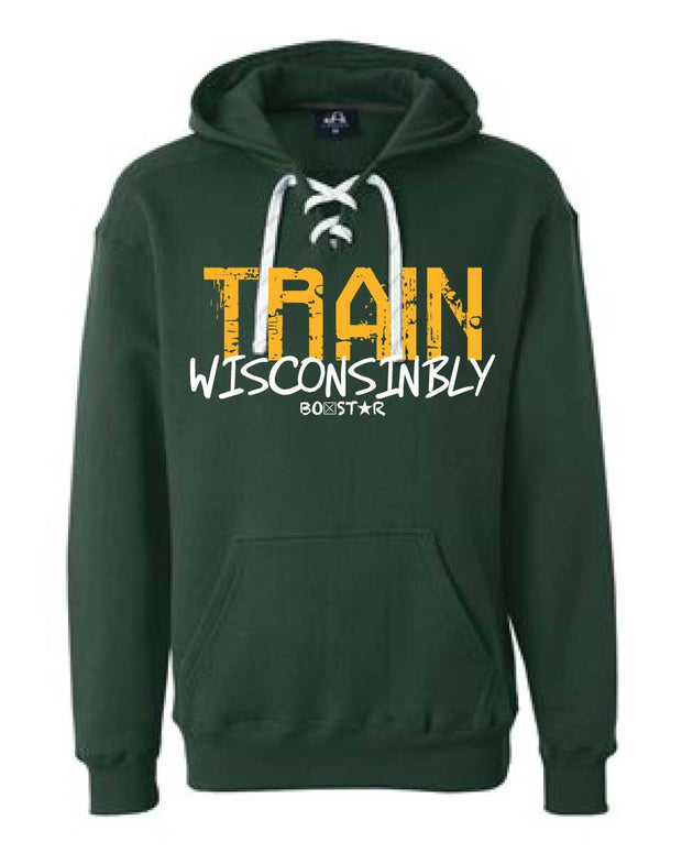 Men's Train Wisconsinbly Titletown Lace Sweatshirt-Boxstar Apparel