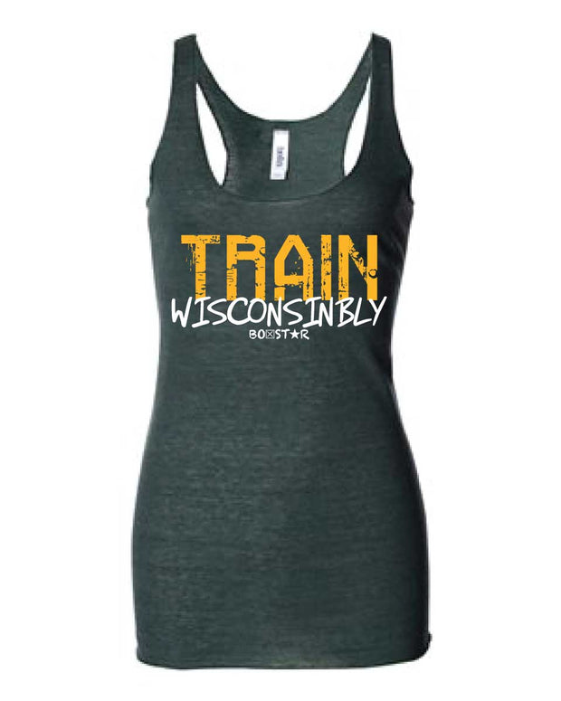 Ladies Train Wisconsinbly Titletown Tank-Boxstar Apparel