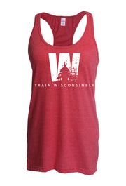 Ladies Train Wisconsinbly Capital Tank-Boxstar Apparel
