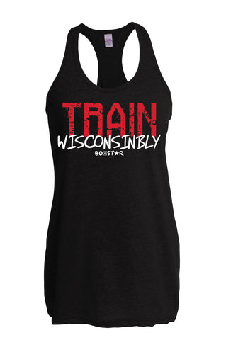 Ladies Train Wisconsinbly Madtown Tank-Boxstar Apparel