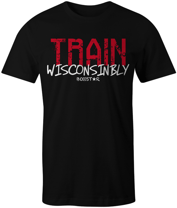 Men's Train Wisconsinbly Madtown Tee-Boxstar Apparel