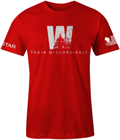 Men's Train Wisconsinbly Capital Tee-Boxstar Apparel