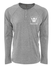 WiscoFit Long Sleeve Henley-Boxstar Apparel