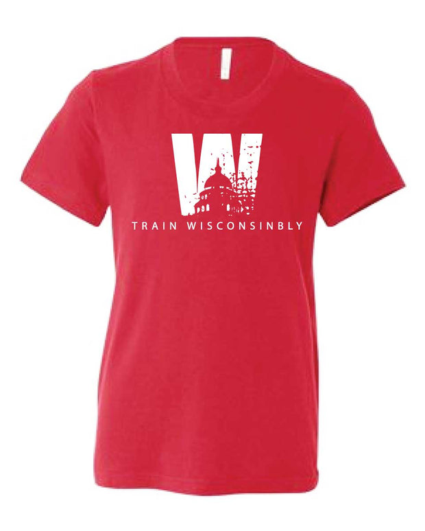Kids Train Wisconsinbly T-Shirt-Boxstar Apparel