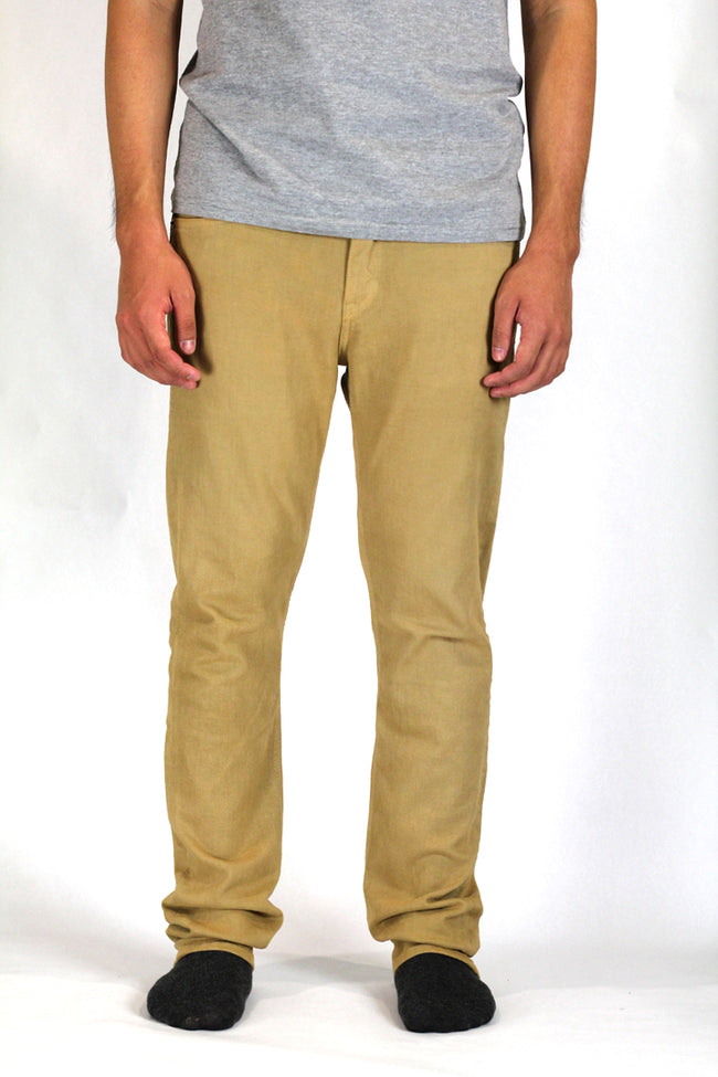 Slim Tapered Khaki Stretch Jeans