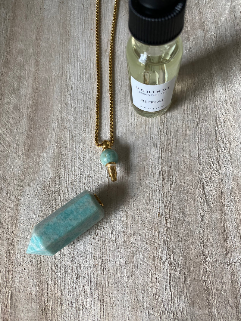 TRANQUILITY - ESSENTIAL OIL VIAL NECKLACE