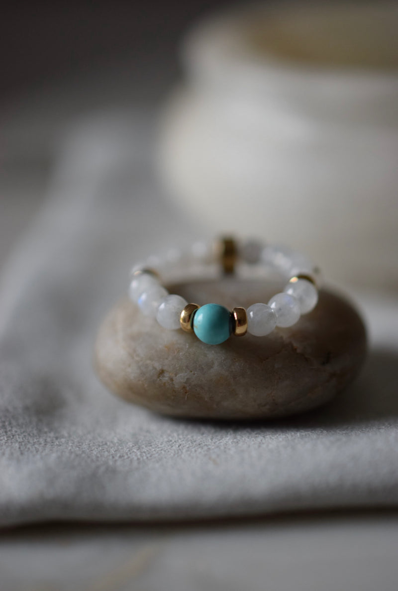 BALANCE + NEW BEGINNINGS - LITTLE RIVER ACUPUNCTURE BEAD RING