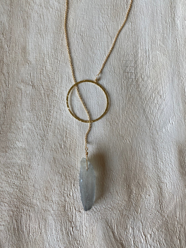 ONE POSITIVE THOUGHT (one of a kind) LARIET NECKLACE