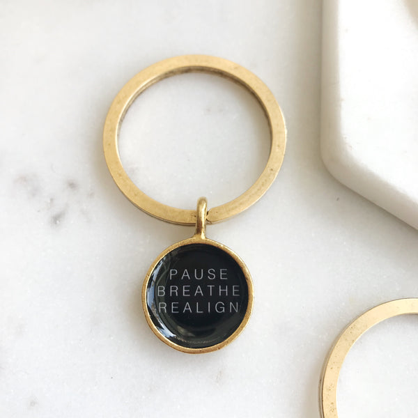 PAUSE BREATHE REALIGN KEYCHAIN