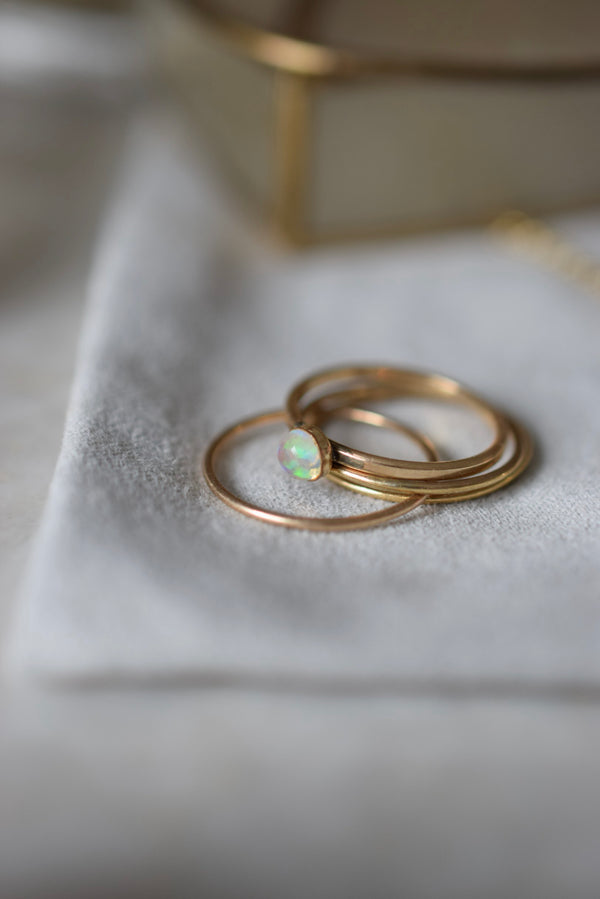 PROSPERITY + CREATIVITY - MINI OPAL GEM RING