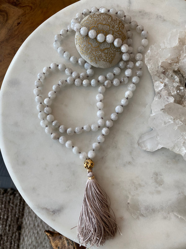 NEW BEGINNINGS MOONSTONE MALA