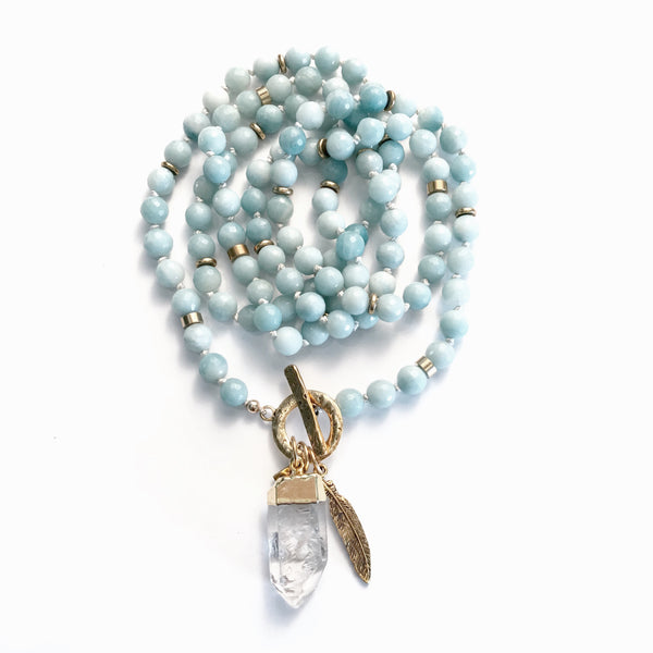CLARITY + TRUTH + TRANQUILITY | QUANTUM MALA NECKLACE