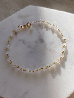 New Beginnings - Moonstone Crystal River Bracelet