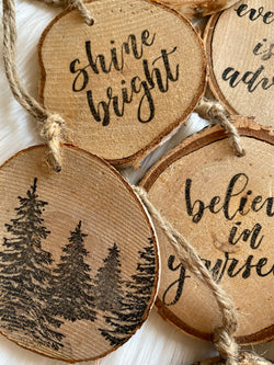 HOLIDAY INTENTION ORNAMENT - BIRCH