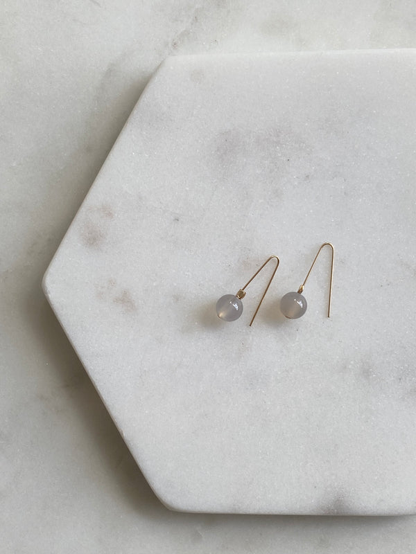 PATIENCE | GREY AGATE INTENTION EARRINGS