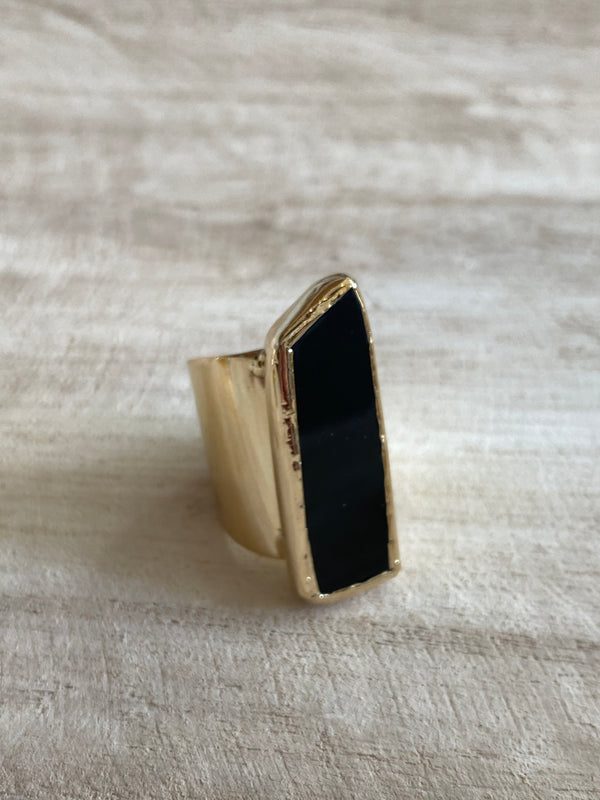 FIND YOUR STRENGTH | BLACK ONYX CUFF RING