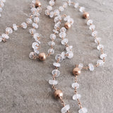 MOONSTONE & QUARTZ NECKLACE - STYLE 612