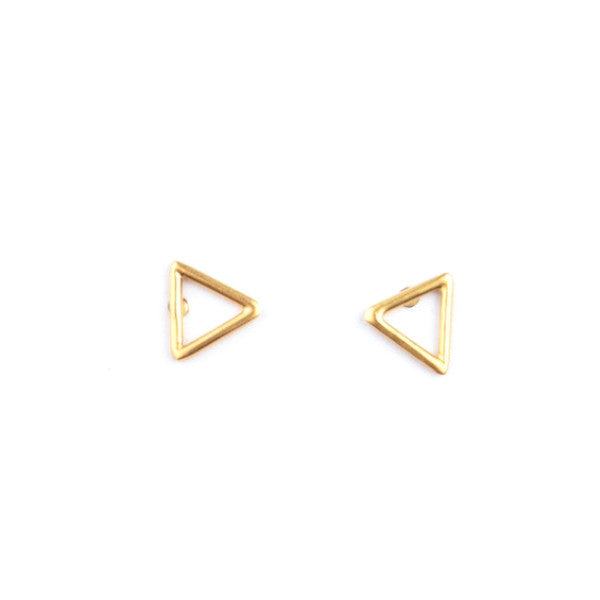 TRIANGLE STUD ERRINGS - GOLD OR SILVER