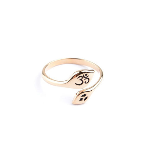 OM LOTUS RING - ADJUSTABLE