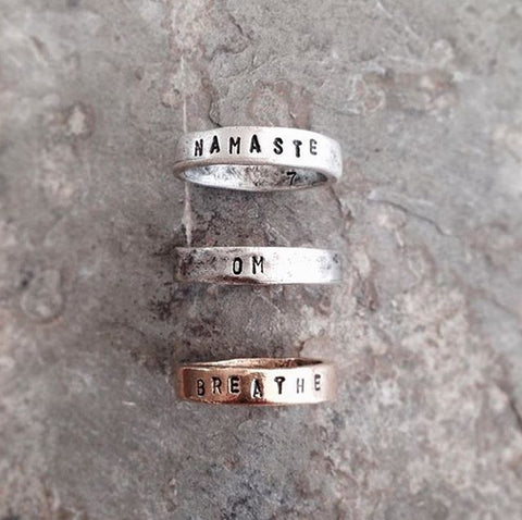 PERSONALIZED WORD RING