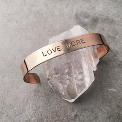 LOVE MORE MANTRA BAR CUFF
