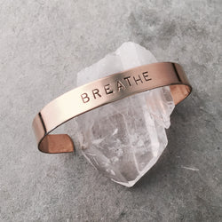 BREATHE MANTRA BAR CUFF