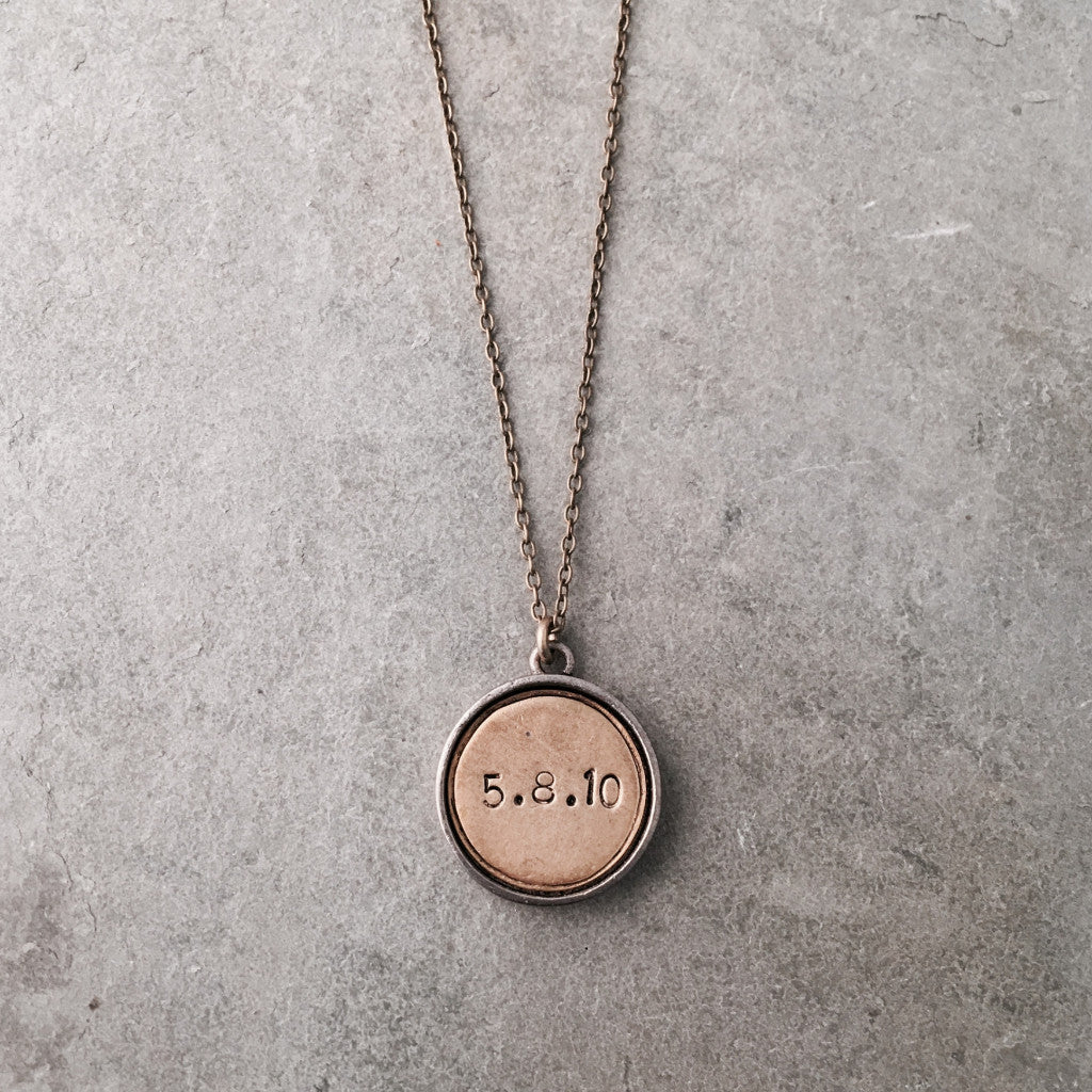 PERSONALIZED DATE COIN NECKLACE