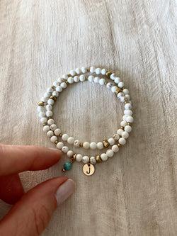 I AM BALANCED | MINI LUNA INITIAL WRAP BRACELET