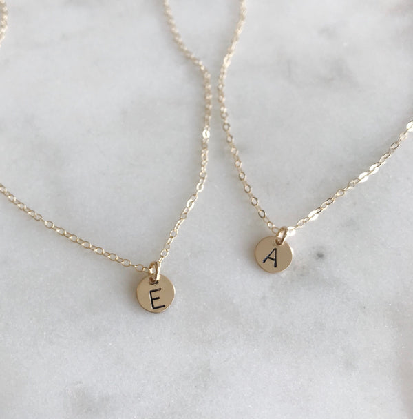MINI INITIAL DISC NECKLACE