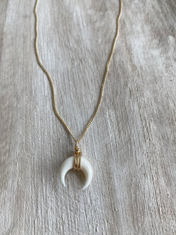 TRANSITION | WHITE CRESCENT NECKLACE