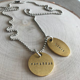 MAMA BEAR PERSONALIZED NECKLACE