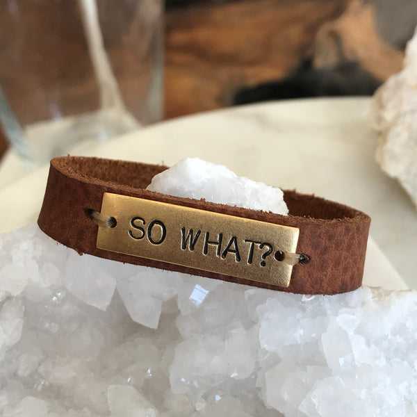SO WHAT LEATHER BRACELET