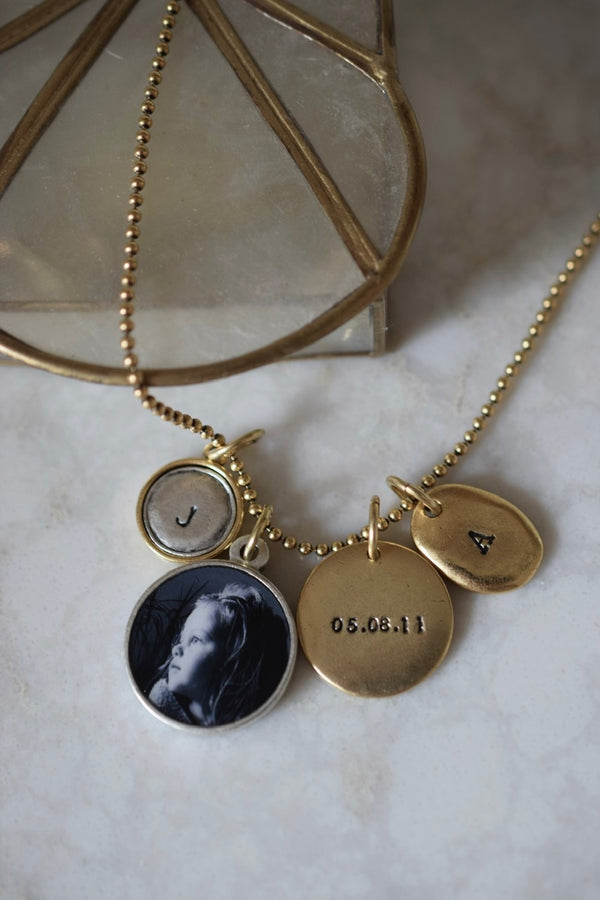 Photo pendant personalized necklace