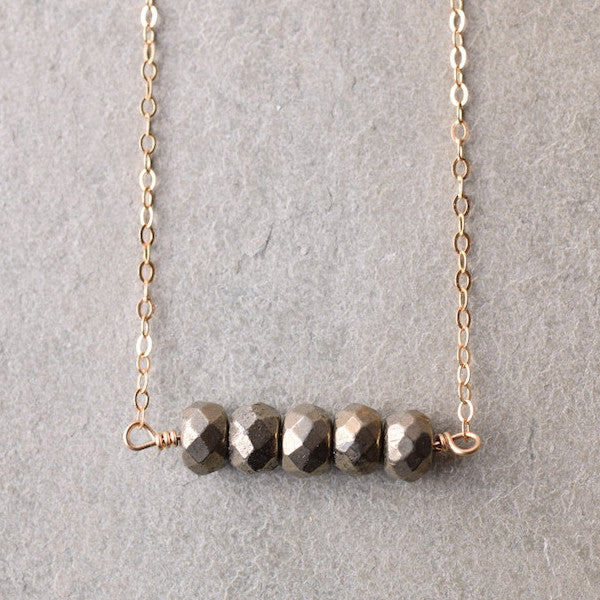 PYRITE BAR NECKLACE