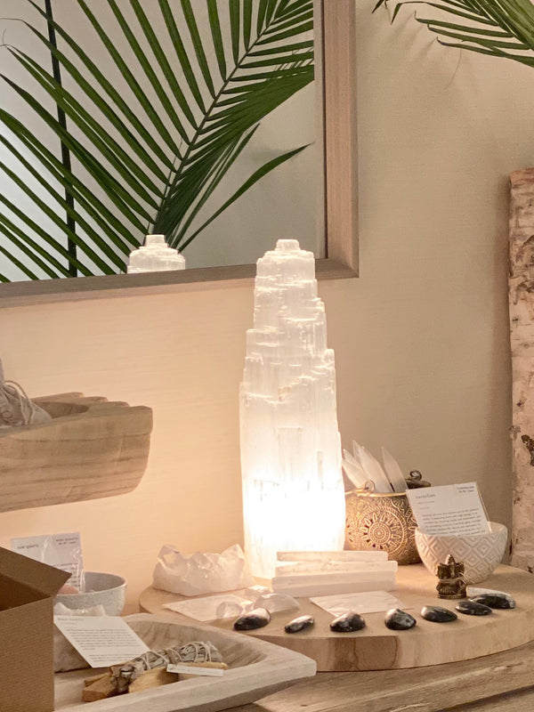 SELENITE LAMP No. 1 MORROCO