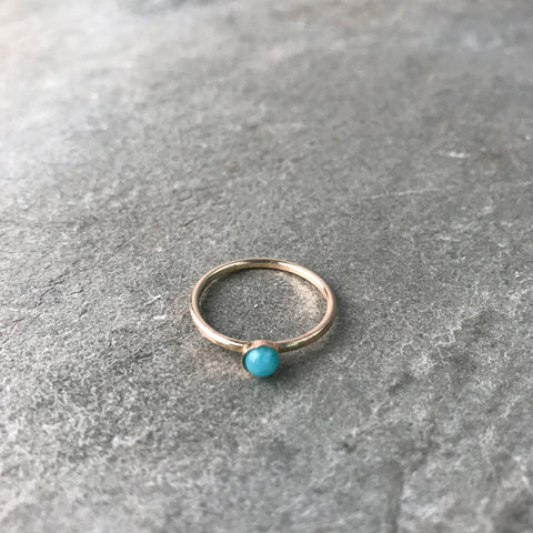 TRANQUILITY - AMAZONITE MINI GEM RING