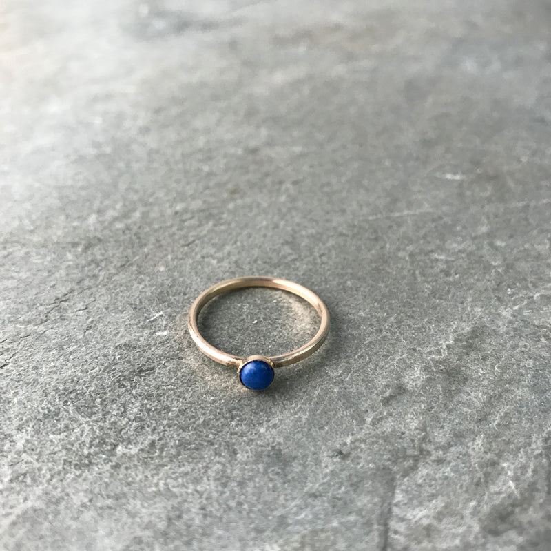 WISDOM - MINI LAPIS GEM RING