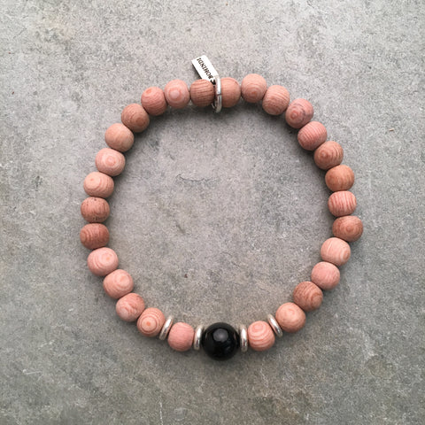 BLACK ONYX ESSENTIAL OIL DIFFUSER BRACELET - SINGLE