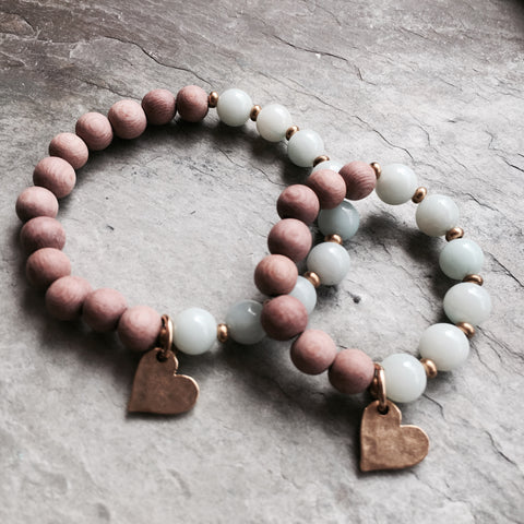 MOMMY AND ME CALMING HEART BRACELET SET