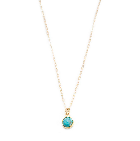 MINI TURQUOISE GEMSTONE NECKLACE