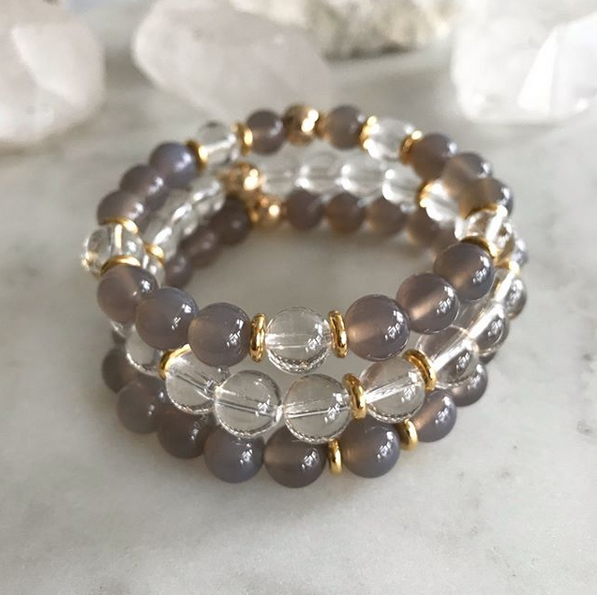 PATIENCE + CLARITY BRACELET STACK
