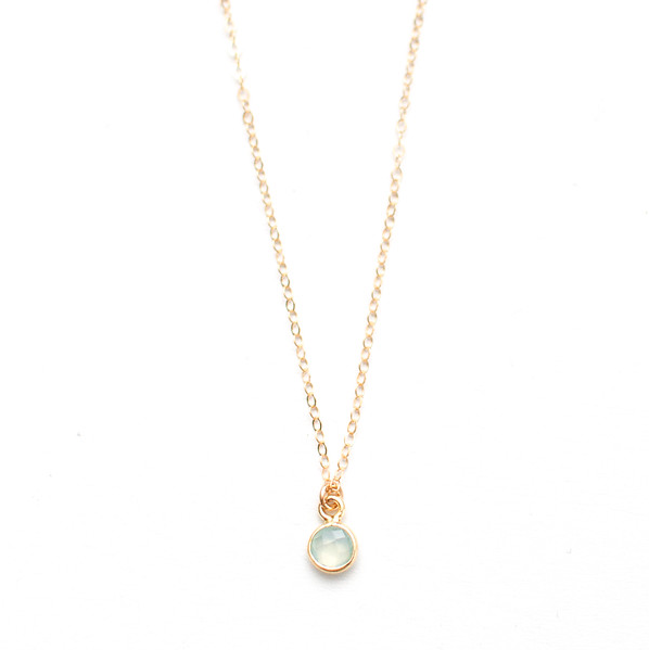 MINI CHALCEDONY GEMSTONE NECKLACE